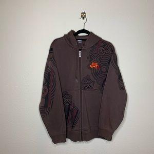 Nike Brown Full Zip Fleece Hoodie Sweater